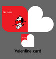 valentine card with dog vector image vector image