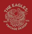 vintage eagle bird wing annimal usa america vector image