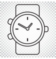 watch icon in line style clock flat simple vector image vector image