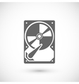 Hard drive icon vector image
