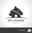Pet house icon symbol vector image