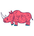 cartoon mascot rhinoceros isolated vector image