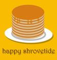 pancakes happy pancake day vector image
