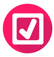 check mark or accept icon of set material design vector image