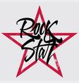 rock star print for t-shirt banner billboard vector image