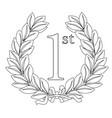 1st laurel wreath vector image vector image