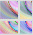 Abstract digital brochure background set vector image vector image