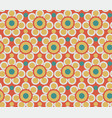 abstract flowers pattern seamless vintage folk vector image