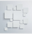 abstract square background white design vector image