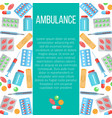ambulance banner with flat icons vector image vector image