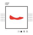 ballerina flats - women shoe the silhouette vector image vector image
