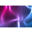 blue ultraviolet neon curved wavy lines abstract vector image vector image
