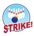 Bowling vector image vector image