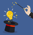 business hand with lightbulb idea vector image vector image