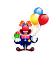 cartoon beautiful clown vector image vector image