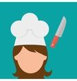 Chef design supplies icon restaurant concept vector image vector image