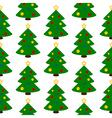 Christmas tree symbol seamless pattern vector image