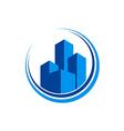 cityscape modern building architecture logo vector image