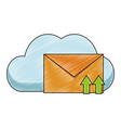 cloud computing and email scribble vector image vector image