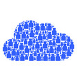 cloud shape of bottle icons vector image vector image