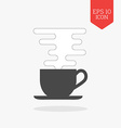 Coffee cup with smoke icon Flat design gray color vector image