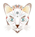 colorful abstract cat head vector image vector image