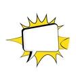 comic bubble talk vector image vector image