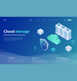 concepts cloud storage vector image vector image