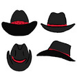 cowboy hat template vector image vector image