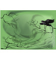 crow on a dry tree vector image vector image