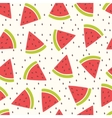 Cute seamless pattern with watermelon vector image vector image