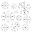 dandelion seed decoration icon vector image vector image