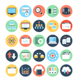 data science icons 2 vector image