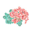 decorative embroidered flower vector image vector image