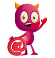 devil networking on white background vector image vector image