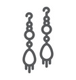 earring pair line icon jewellery and accessory vector image