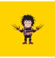 Edward Scissorhands character for vector image