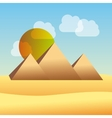 egypt pyramid vector image vector image