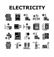 electrical installation tool icons set vector image vector image