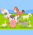 farm animal characters cartoon vector image vector image
