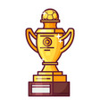 football or soccer trophy cup icon vector image