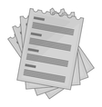 Four list icon gray monochrome style vector image vector image