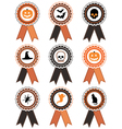 halloween rosettes vector image