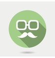 Hipster icon with long shadow hipster moustaches vector image vector image