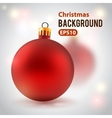Holiday background with toy ball vector image vector image