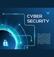 horizontal banner cyber security information vector image