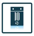 Icon of football calendar vector image vector image