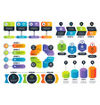 infographic options arrow diagrams abstract vector image vector image