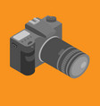 isometric photo camera with lens vector image vector image