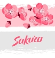 Japanese sakura background with stylized flowers